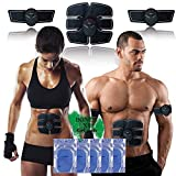 VOUMEY EMS Abs Trainer,Abdominal Toning Belt,Wireless Body Massage Gym Workout Home Office Fitness