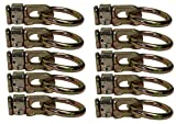 Cargo Equipment Corp. 10 Pack L-Track Double Stud Fitting with Round Ring