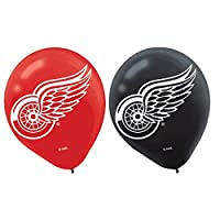 Amscan Sports & Tailgating NHL Detroit Red Wings Printed Latex Balloons Childrens Party