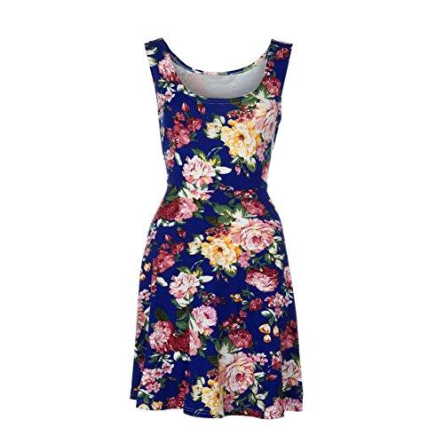 IMJONO - Vestido - Sin mangas - para mujer Azul