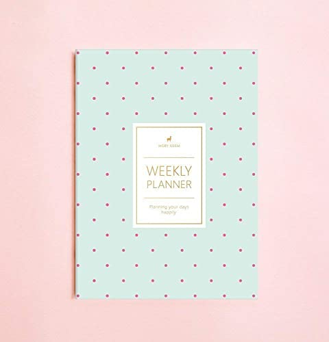 Amazon.com: Polka Dot Weekly Planner (Dateless) • 2019 ...