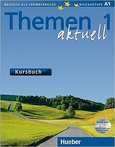 amazon com themen aktuell kursbuch 1 mit cd rom german edition
