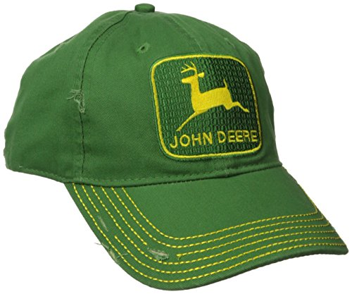 Logo Embroidered Baseball Cap - John Deere Embroidered Logo Vintage Baseball Hat - One-Size - Men's Green