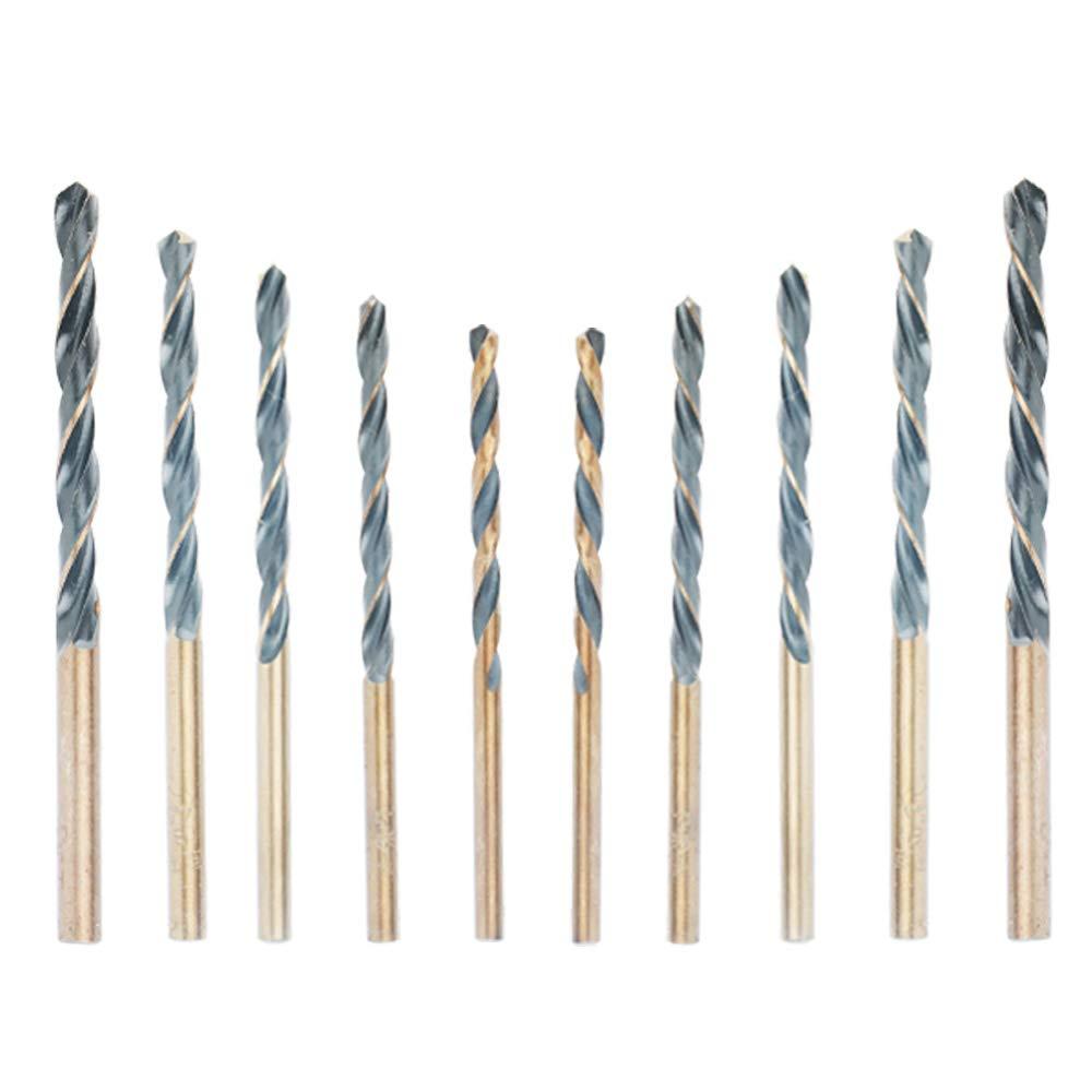 10 PCS HSS Cobalt Twist Drill Bits HSS-Co For Hard Metal Stainless Steel 0.3-3mm