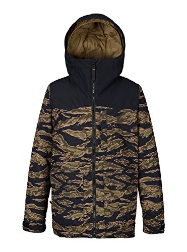 (Burton Boys Phase Jacket, Olive Branch Beast/True Black,)