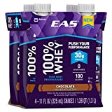 EAS 100% Whey Ready-to-Drink Protein Shake, Chocolate, 11 fl oz, 12 count