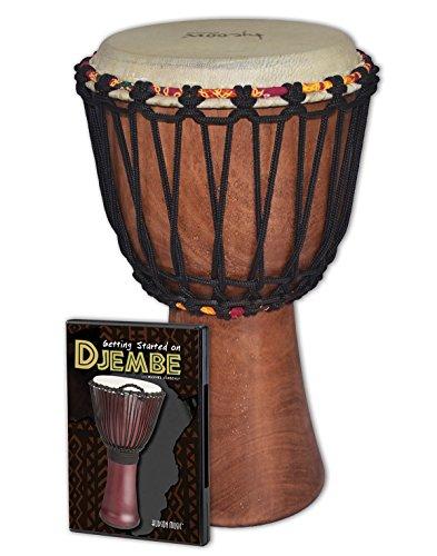 Tycoon Percussion TAJ-8 WDVD Djembe Instrument Starter Kit by Tycoon Percussion