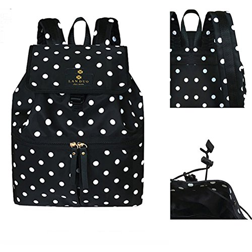 Kangming multifunción lunares mujeres mochila bebé Napper bolso cambiador
