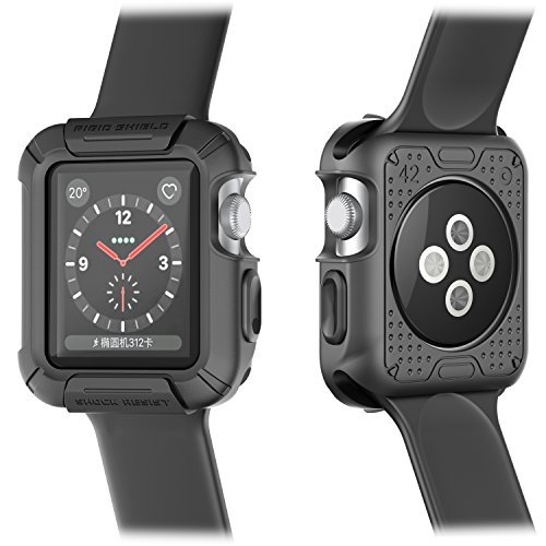 Protective Shield (Beacoo Apple Watch Case, Rigid Shield with Resilient Shock Absorption Rugged Protective TPU iWatch Case for 42mm Apple Watch Series 3/Series 2/1/Original (2015)/Nike+ Sport Edition)