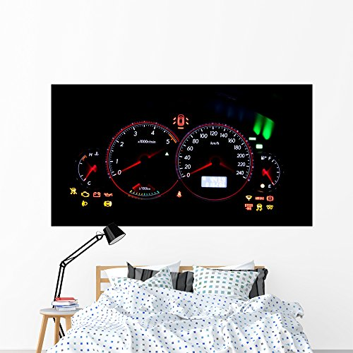 Dashboard Gauges Wall Mural by Wallmonkeys Peel and Stick Graphic (72 in W x 48 in H) WM329436 (Tachometer Needle)