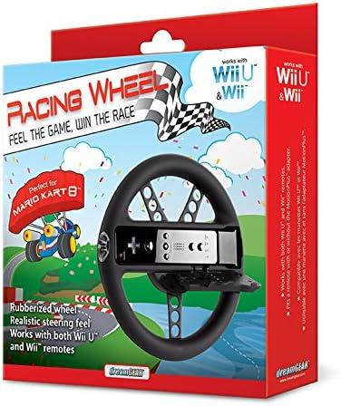 dreamGEAR Wii U /& W II Racing Wheel Rubber Black