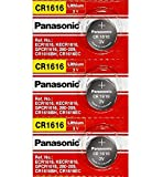 Panasonic CR1616 3V Coin Cell Lithium Battery, Retail Pack of 3