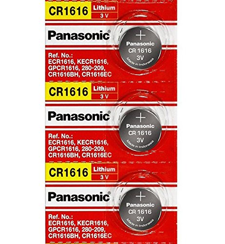 (Panasonic CR1616 3V Coin Cell Lithium Battery, Retail Pack of 3)