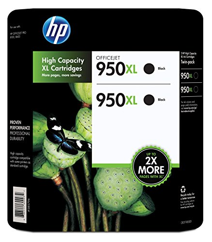 picture of HP 950XL Black Ink Cartridge - Twin Pack
