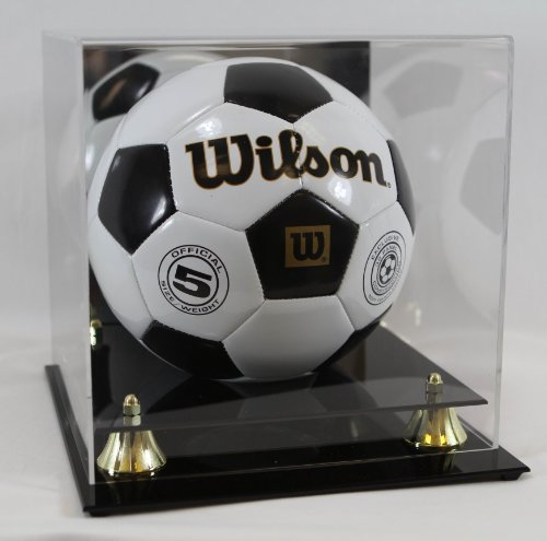 Collectible UV Deluxe Soccer/Volley Ball Display Case - with Mirror - Sports Memoriablia Display Case - Collectible Supplies