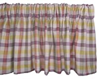 Rlf Home Peacock Check Valance, Multi