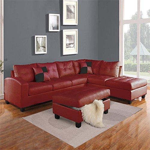 ACME Furniture Kiva 51185 Sectional Sofa with 2 Pillows, ...