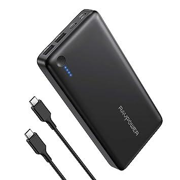 RAVPOWER Power Bank 26800mAh Versión 2019, Bateria Externa Carga Rapida PD 30W Cargador Portatil USB C para Huawei, xiaomi, Samsung, iPhone, iPad, ...