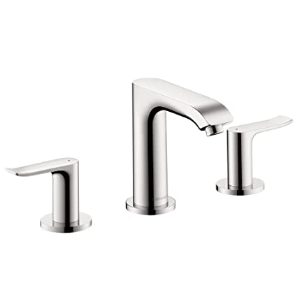 Hansgrohe 31083001 Metris 100 Widespread Faucet, Chrome - Bathroom ...