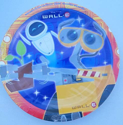 (Wall-E Robot Party Plates Lunch Dinner Birthday Favors Partyware Supplies Set of 8 PCS)