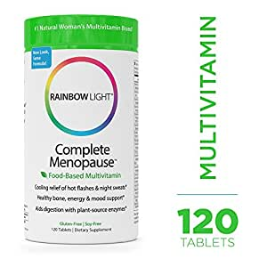 Rainbow Light - Complete Menopause Multivitamin - Supports Menopause Relief; Vitamin and Mineral Formula Supports Nutrition, Natural Energy, and Whole-Body Health in Menopausal Women - 120 Tablets