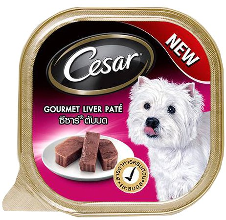 Cesar Gourmet Liver Pate 3.4 Oz Pack of 6