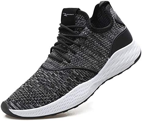 WELMEE Men s Knit Comfortable Breathable Casual Sneakers Lightweight Athletic Tennis Walking Running Shoes