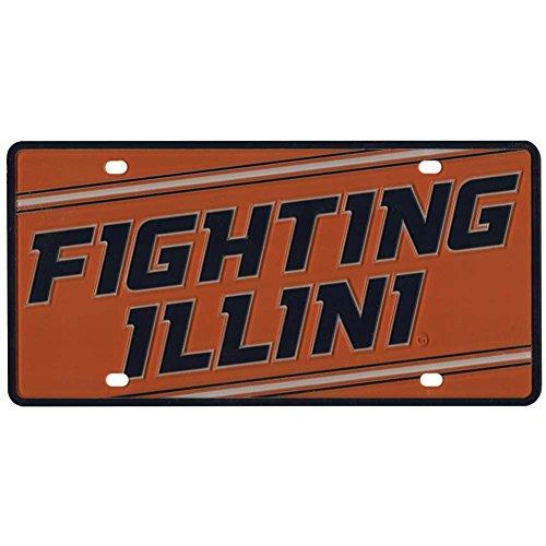 Stockdale Illinois Fighting Illini Full Color Mega Inlay License Plate