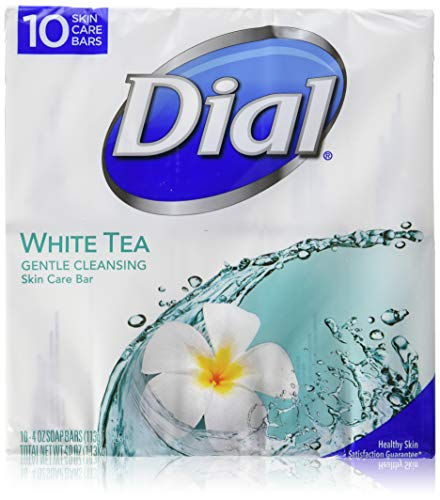 Dial White Tea 10 Glycerin Bars. Bar Soap White Tea