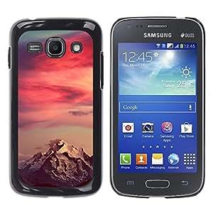 Caucho caso de Shell duro de la cubierta de accesorios de protección BY RAYDREAMMM - Samsung Galaxy Ace 3 GT-S7270 GT-S7275 GT-S7272 - Mountain Snow Red Sky Clouds
