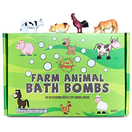 Kids Bath Bombs with Surprise Inside: Farm Animal Toys Inside, Great Gift...