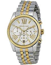 ساعة يد للنساء من مايكل كورس بمينا فضي اللون وسوار من الستانلس ستيل - MK5955