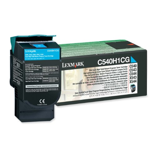 - Lexmark C540H1CG Return High Capacity Cyan Toner Cartridge
