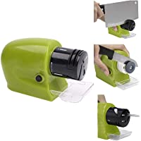 HOME CUBE® Professional Electric Knife Sharpener Swifty Sharp Motorized Knife Sharpener Rotating Sharpening Stone Sharpening Tool - Green Color