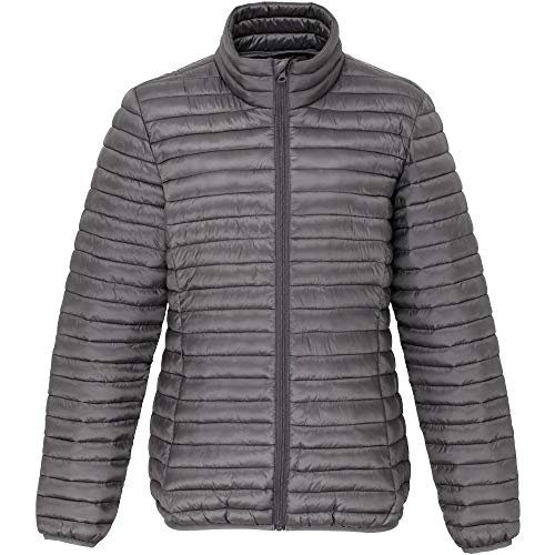 Womens Jacket Coat Steel Quilted Padded OutdoorLook Ladies Morar dpAnq