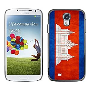 Shell-Star ( National Flag Series-Cambodia ) Snap On Hard Protective Case For Samsung Galaxy S4 IV (I9500 / I9505 / I9505G) / SGH-i337