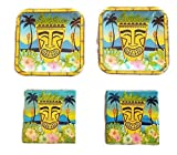 Greenbrier Hawaiian Luau Party Plates (28) Napkins (40) Bundle
