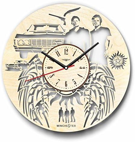 7ArtsStudio Supernatural Wall Clock Made of Wood