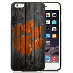 Beautiful Designed With NCAA Atlantic Coast Conference ACC Footballl Clemson Tigers 7 Protective Cell Phone Hardshell Cover Case For iPhone 6 Plus 5.5 Inch Black