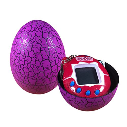 Dinosaur Egg Virtual Pets On A Keychain Digital Pet Electronic Game  Purple