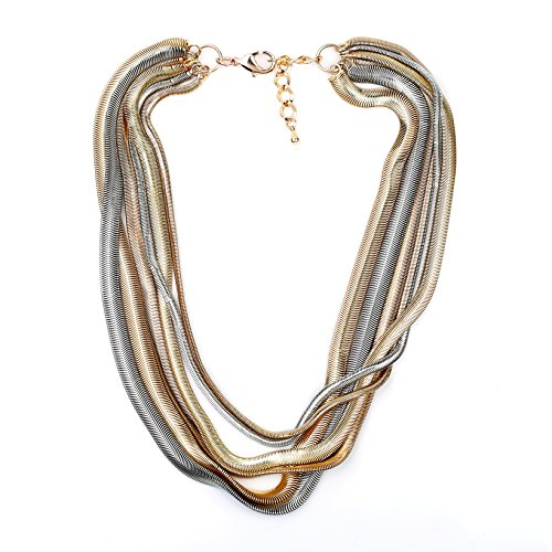 United Elegance - Bold Multi Strand Statement Designer Necklace