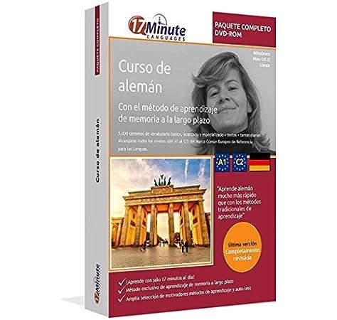 Curso de alemán: Paquete completo desde el nivel A1 hasta el C2 : Software compatible con Windows y Linux. Aprende alemán con el método de aprendizaje de memoria a largo plazo: Amazon.es: