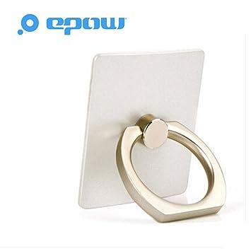 magasin d'usine b4d70 61031 EPOW® Ring Anneau Téléphone Bague téléphone maintien Grip pour portable et  support voiture stand Smartphone, Tablette tactile, iPhone et iPad - Blanc