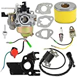 GX120 Carburetor with Air Filter Intake Manifold Spark Plug Ignition Coil for Honda GX160 5.5HP GX200 6.5 HP GX140 GX120 Engine Carb Replaces# 16100-ZH8-W61 16100-ZE1-825