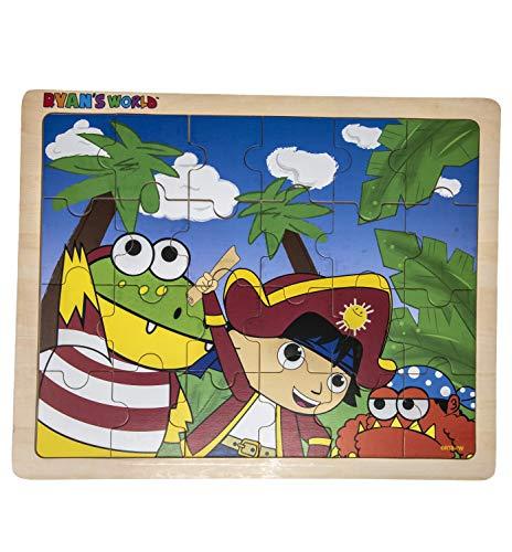 Ryan's World - Pirate Adventure - 24 Piece Wooden Jigsaw Puzzle ()