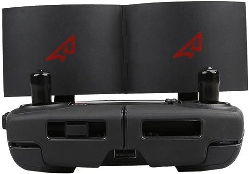 Amplificador de señal de antena para DJI Mavic Pro Controlador de control remoto Ampliar Antena parabólica de rango extendido Negro RCmall