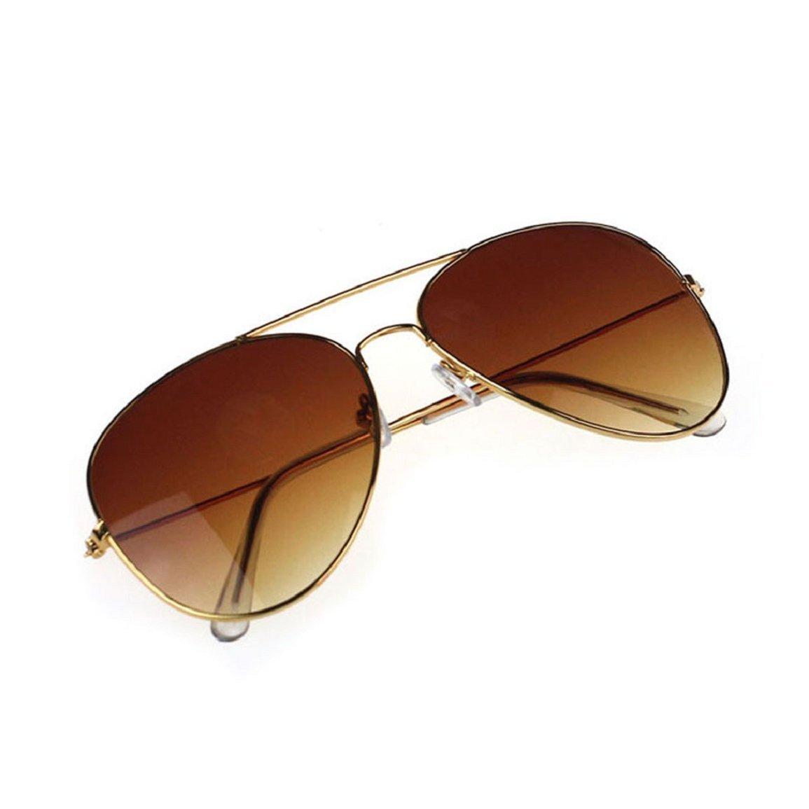 Culater® Unisex Men Women Classic Aviator Metal Designer Sunglasses + Case (Brown) Culater® Culater®-GU517