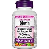 Webber Naturals Biotin 10000mcg, 45 Count