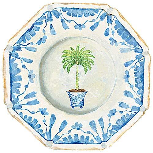 (Caspari Palm China Placemats Hard Die Cut Laminated Table Place Mat, 1 Each)