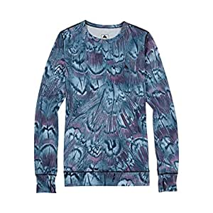 Burton Women's Midweight Crew Top, Feathers, X-Small